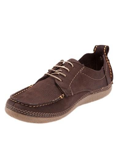 %100 Deri Bağcıklı Ayakkabı-Hush Puppies